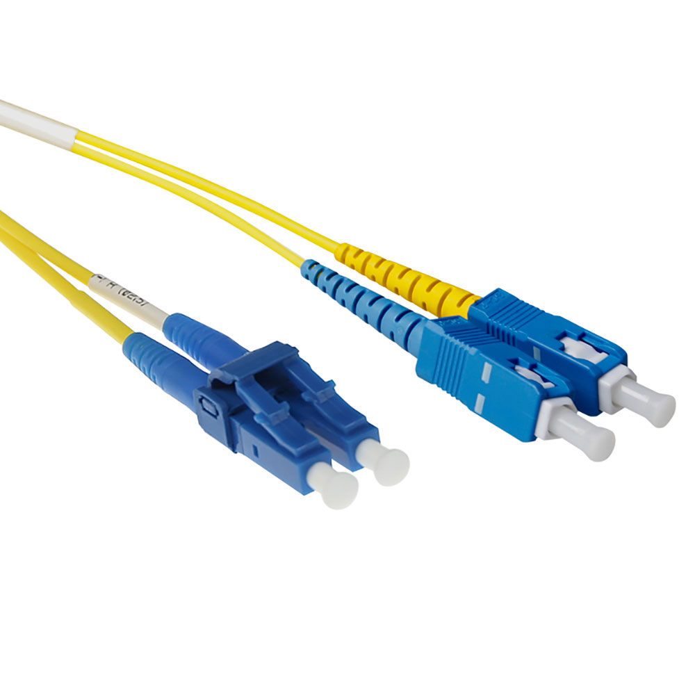 ACT 50 meter LSZH Singlemode 9/125 OS2 fiber short boot patch cable duplex with LC and SC connectors