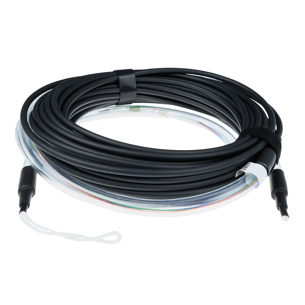 ACT 190 meter Singlemode 9/125 OS2 indoor/outdoor cable 8 fibers with LC connectors