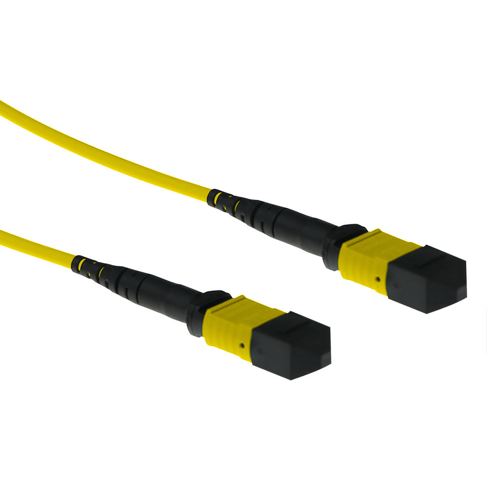 ACT 20 meter SInglemode 9/125 OS2 polarity A fiber patch cable with MTP female connectors