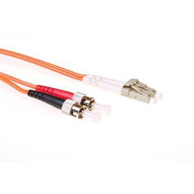 Ewent 2 meter LSZH Multimode 50/125 OM2 fiber patch cable duplex with LC and ST connectors