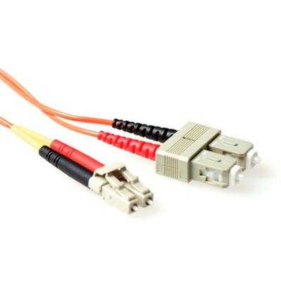 Ewent 2 meter LSZH Multimode 62.5/125 OM1 fiber patch cable duplex with LC and SC connectors