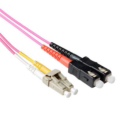 Ewent 5 meter LSZH Multimode 50/125 OM4 fiber patch cable duplex with LC and SC connectors