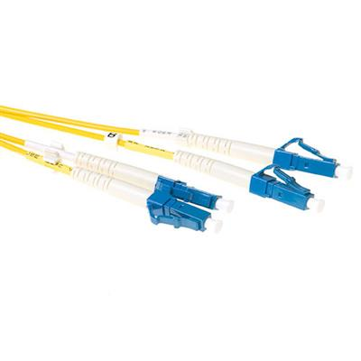 Ewent 2 meter LSZH Singlemode 9/125 OS2 fiber patch cable duplex with LC connectors