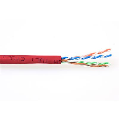 ACT CAT6 U/UTP stranded patch red 305 m