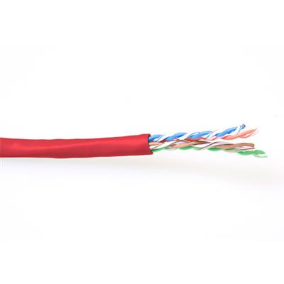 ACT CAT6 U/UTP stranded patch red 100 m