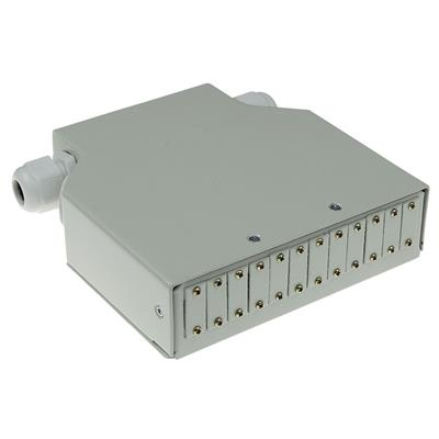 ACT DIN rail fiber optic terminal box unloaded, 12 ports