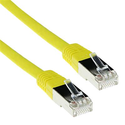 ACT Yellow 15 meter LSZH SFTP CAT6 patch cable with RJ45 connectors