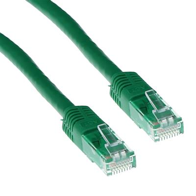ACT Green 1 meter LSZH U/UTP CAT6 patch cable with RJ45 connectors