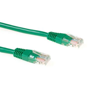 Ewent Green 1.5 meter U/UTP CAT5E CCA patch cable with RJ45 connectors