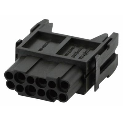 Amphenol C14610B01250015 Heavymate C146 F serie socket module for 12 contacts