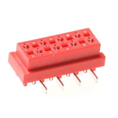MPE-Garry 12 0374 000 01 6 pole PCB board to board female header with 1.27mm raster