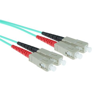 ACT 0.5 meter LSZH Multimode 50/125 OM3 fiber patch cable duplex with SC connectors