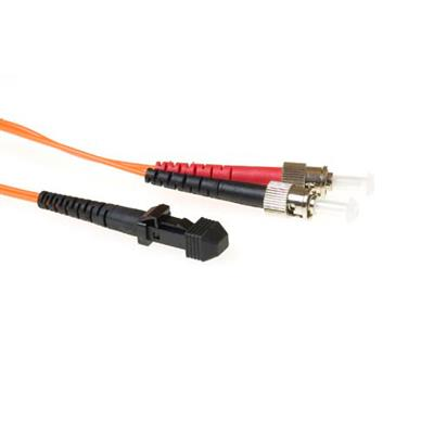 ACT 3 meter LSZH Multimode 62.5/125 OM1 fiber patch cable duplex with MTRJ and ST connectors