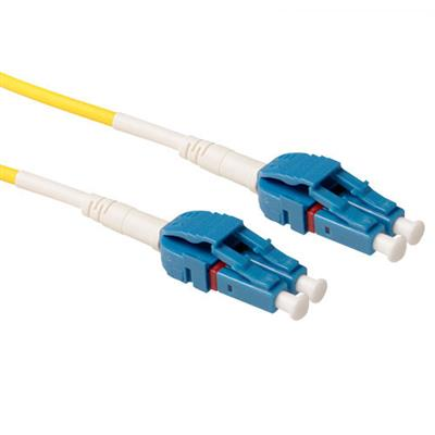ACT 5 meter Singlemode 9/125 OS2 G657A duplex uniboot fiber cable with LC connectors