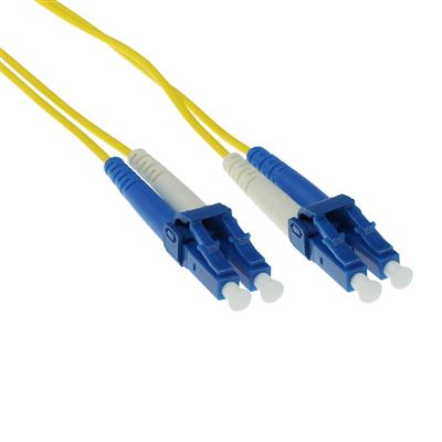 ACT 17 meter LSZH Singlemode 9/125 OS2 fiber patch cable duplex with LC connectors